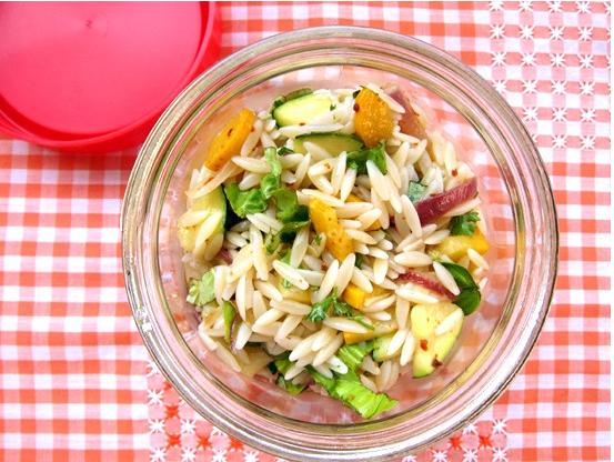 Brown Bag It: Zesty Zucchini & Orzo Salad | Poppytalk