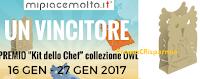 Logo Vinci gratis il ''Kit dello Chef'' collezione OWL