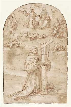 Guglielmo Caccia (Moncalvo) - έργο σε χαρτί, πέννα με αραιωμένη σέπια.