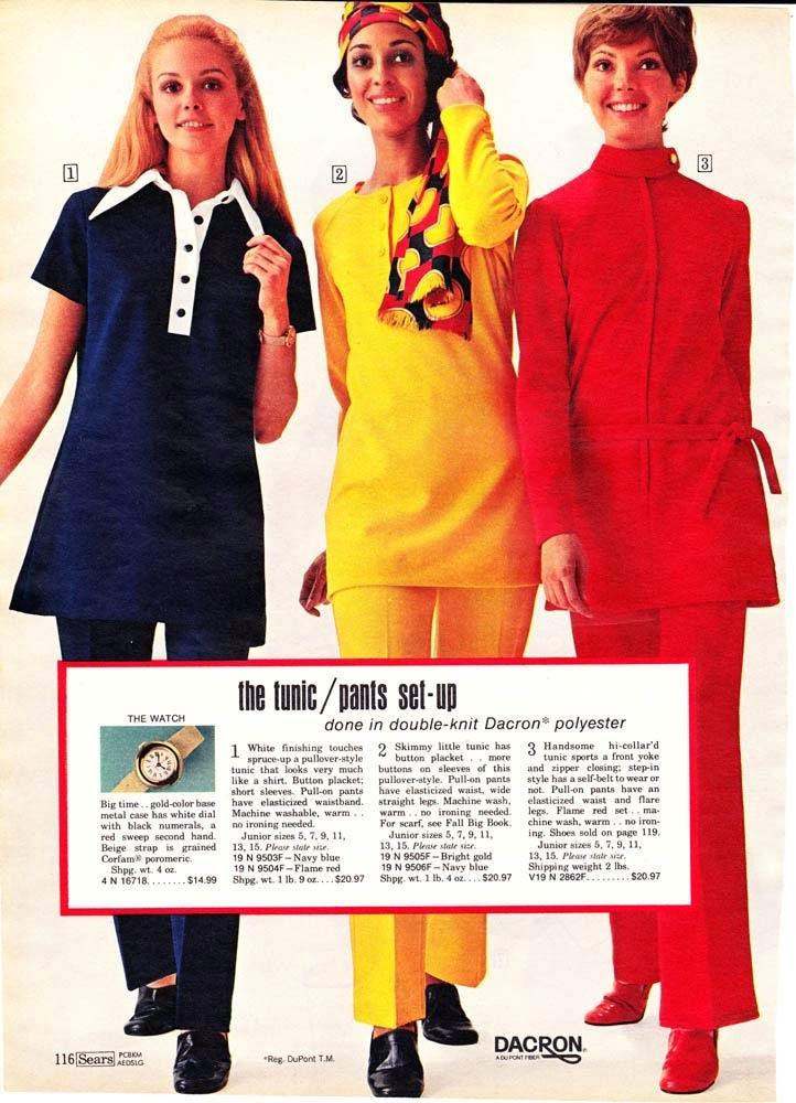 70s shirts women's Tunic tops in 1971