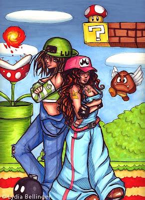 Super heroes versión femenina ilustraciones