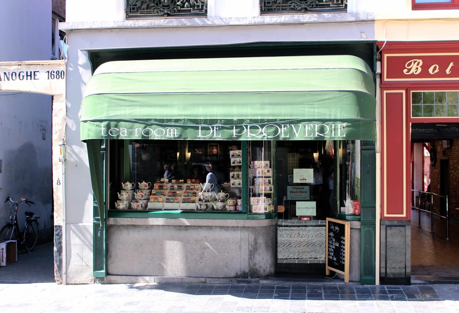 Bruges Tea-room De Proeverie travel blog review