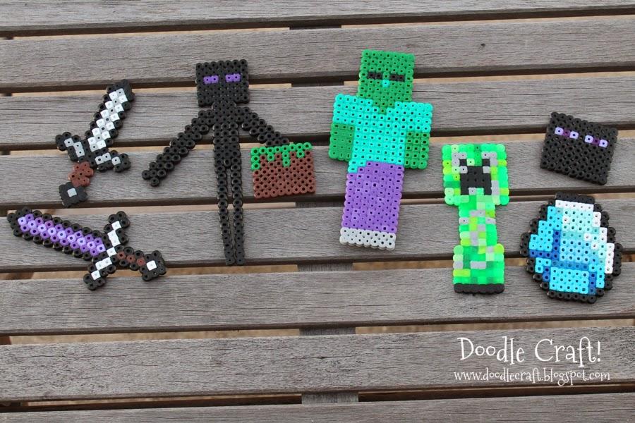Perler Bead Easy Minecraft Zombie