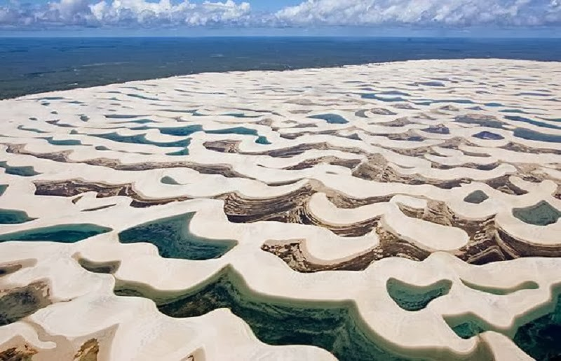 Lençóis Maranhenses National Park, Maranhão, Brazil. - Top 10 Unusual Natural Wonders