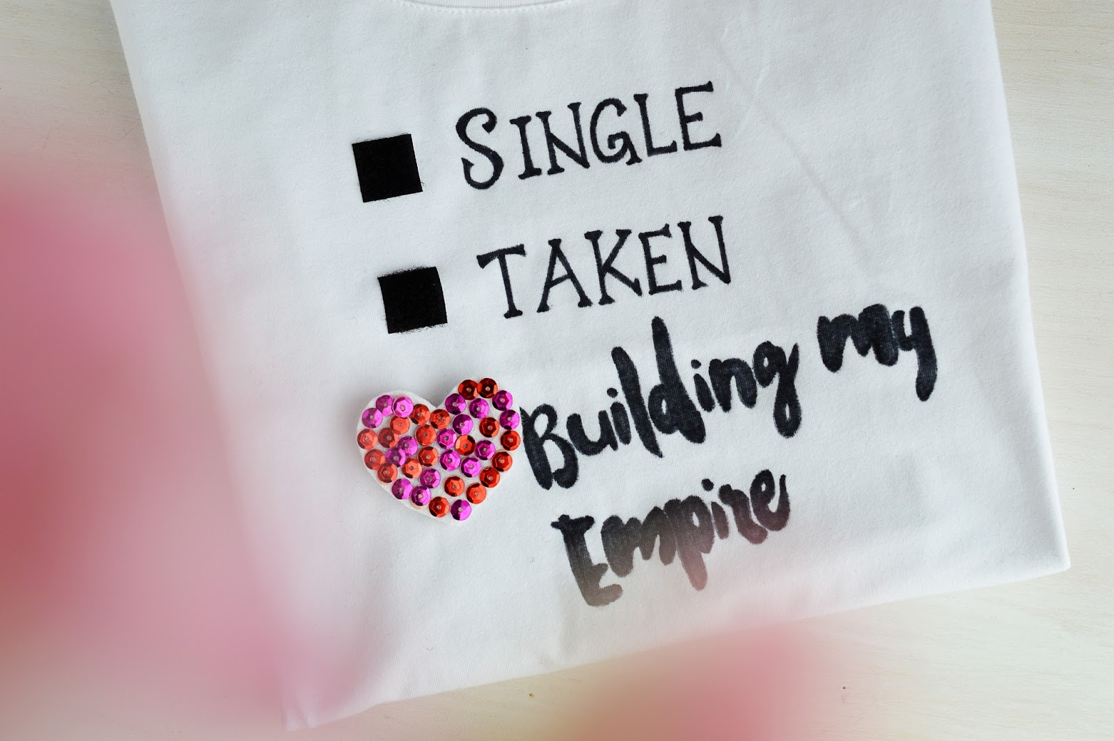 DIY Relationship Status T-Shirt | Motte's Blog