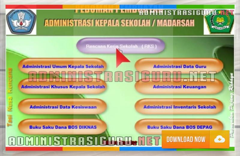 Administrasi Kepala Sekolah Dasar Lengkap untuk SD/Mi Menggunakan Aplikasi