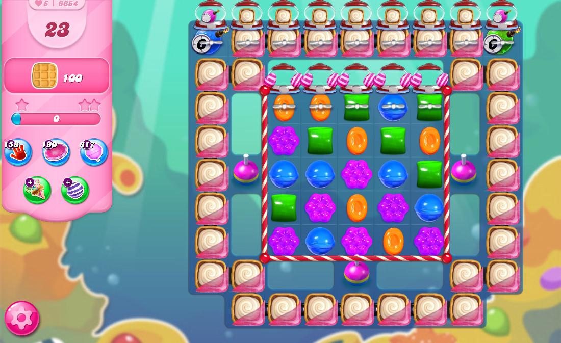 Candy Crush Saga level 6654
