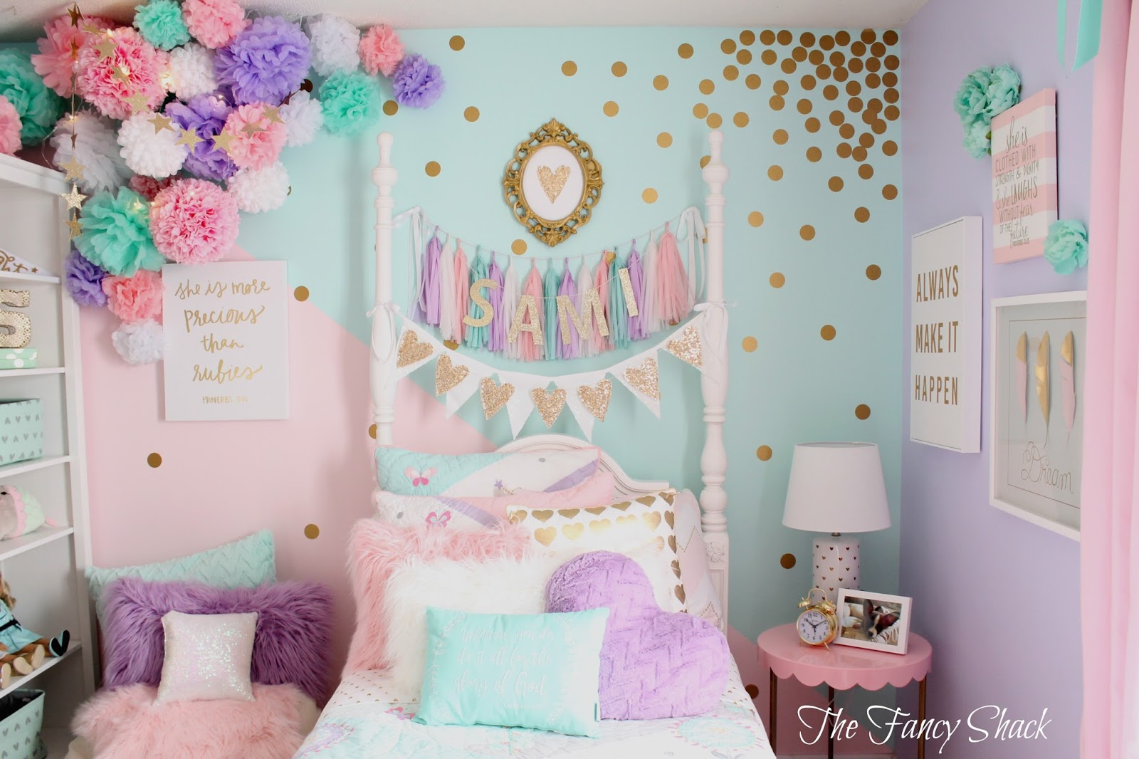 The fancy shack pastel girls room makeover - Decoracion jovenes ...