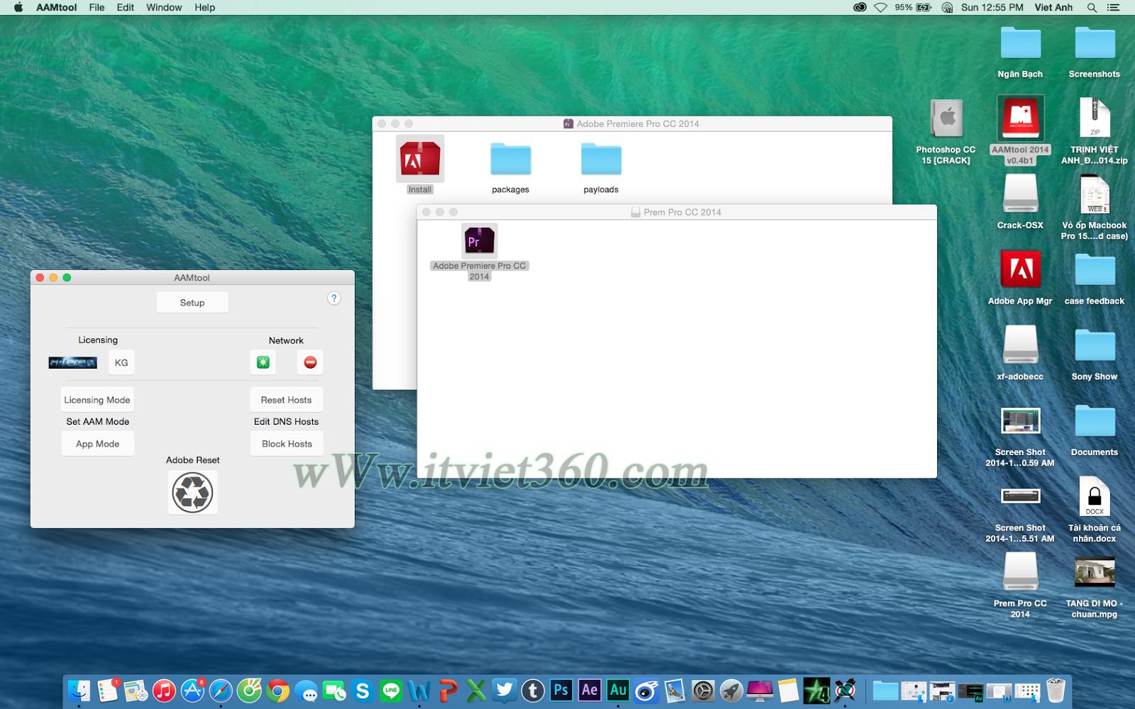 Cai dat phptoshop CC 2014 cho Macbook Air 2013