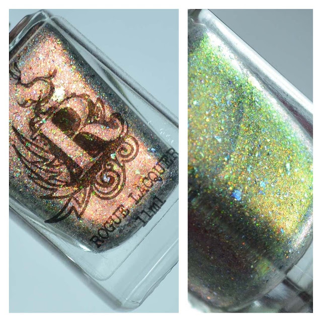 green color shifting nail polish