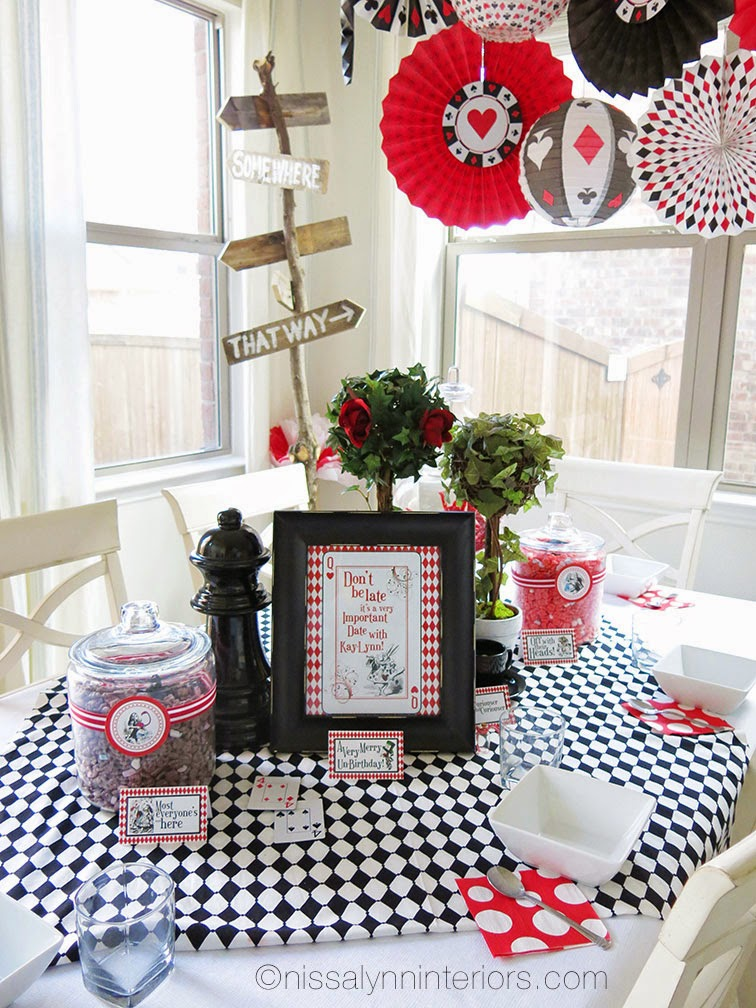 Because my daughter wanted to be Alice and have a Alice in Wonderland party I thought \ Why not the whole family be Alice in Wonderland characters for ...  sc 1 st  Nissa-Lynn Interiors & Nissa-Lynn Interiors: Kay-Lynn\u0027s Wonderland Birthday Party!