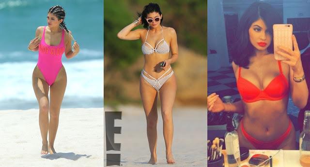 Oi meninas! Tudo bem? O verão tá chegando e trouxe uma seleção dos biquínis e maiôs usados pela Kylie Jenner nos últimos tempos.   Percebi que a garota esta na vibe do Asa Delta- nome original para os modelos mais suspensos na parte do quadril.  Estilo que eu Nanda acho muito vulgar, mais nos dias de hoje se diz sexi.