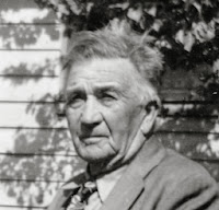 b/w image of Mr. Cox, concrete advisor  to George Stuart