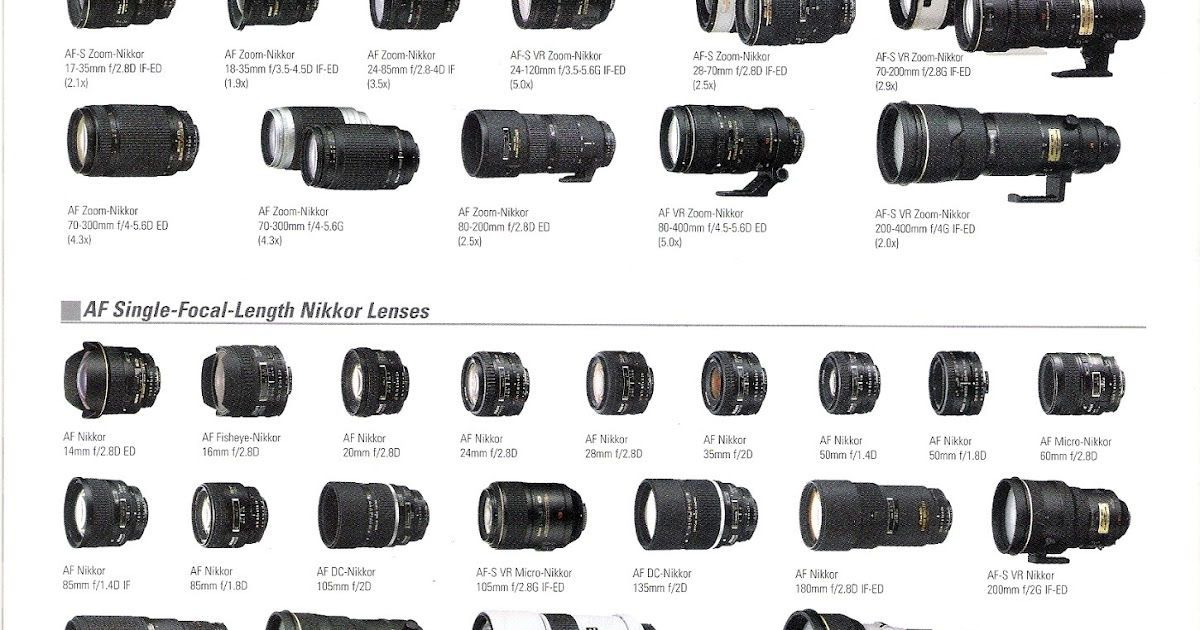 The Loonie Photography Page: Nikon Lens & Body Brochure 2006