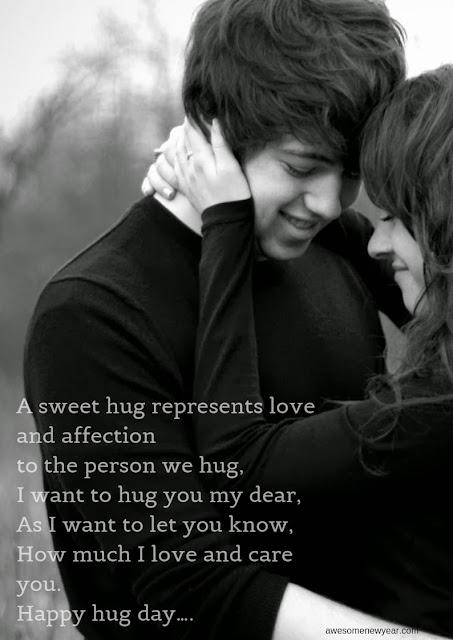Cute Happy Hug Day Wishes