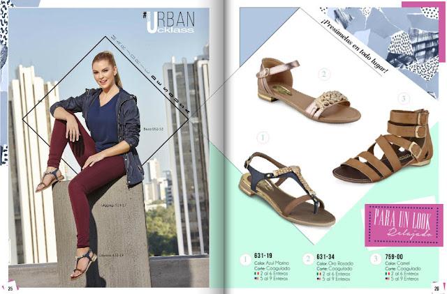 zapatos para damas  cklass sandalias urbanas