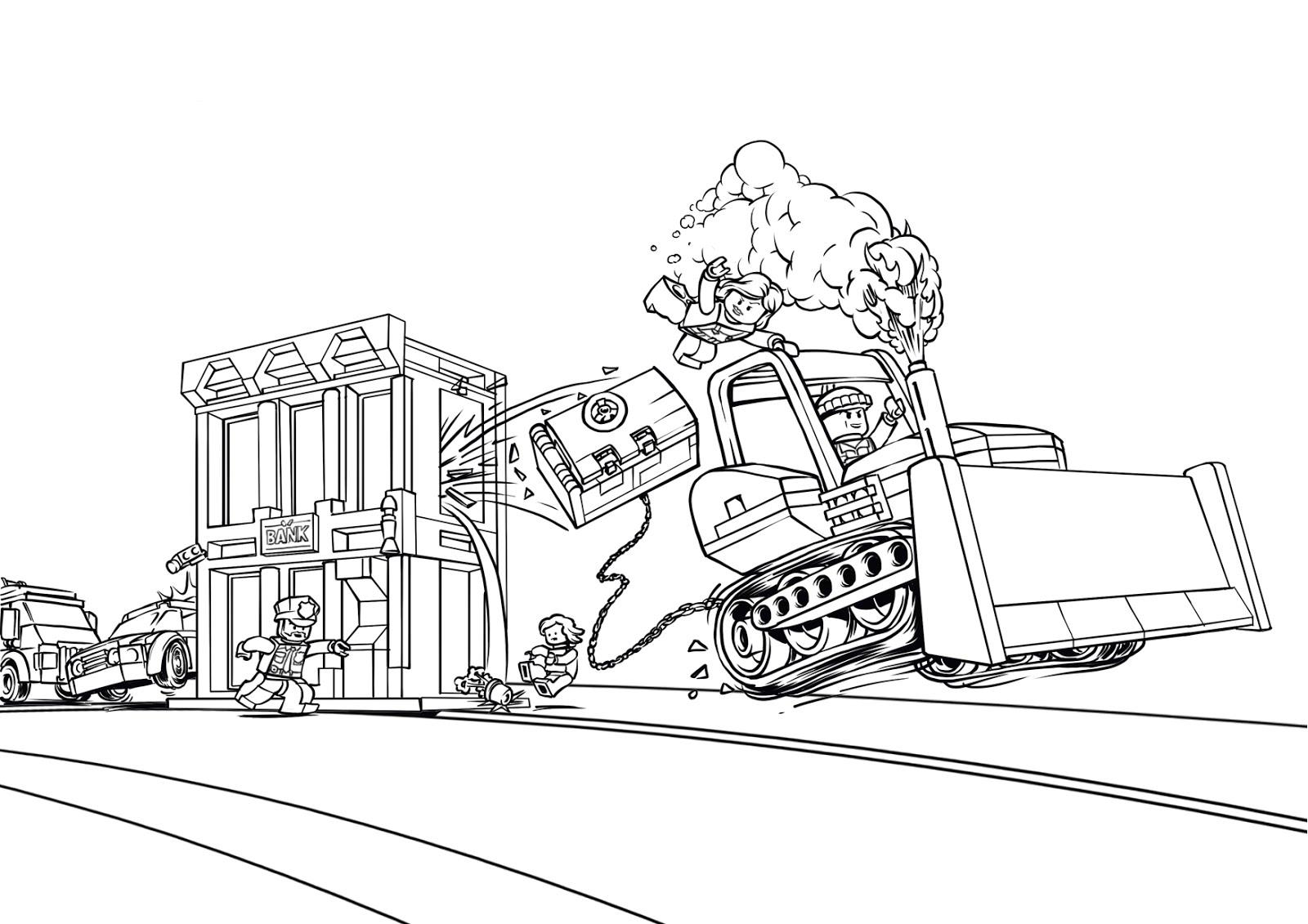Lego City Ausmalbilder Kostenlos - Lego City zum Ausmalen ...