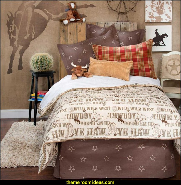 cowboy theme bedrooms - rustic western style decorating ideas