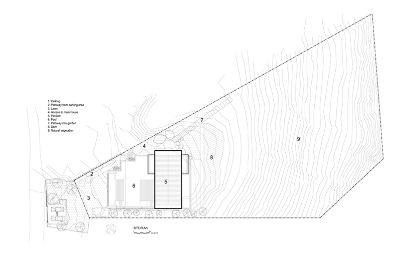 Site plan of Stunning Spa House in Cape Town, South Africa