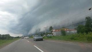 Fenomena Shelf Cloud - Awan ombak besar melanda Sabah 5