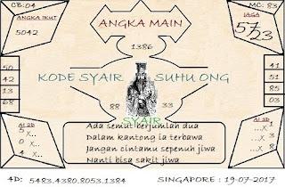 SYAIR SINGAPORE, PREDIKSI KODE SYAIR TOGEL SGP RABU
