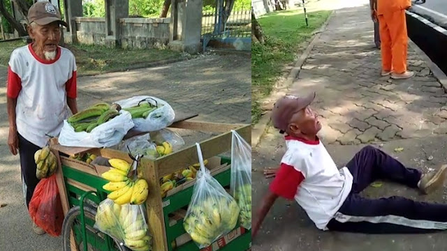 Kakek Penjual Pisang Disekap dalam Mobil, Uangnya Rp.1,1 Juta Digasak Rampok Gak Punya Otak..!!