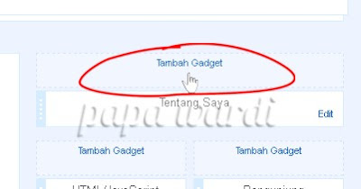 Tambah gadget, Recent Post
