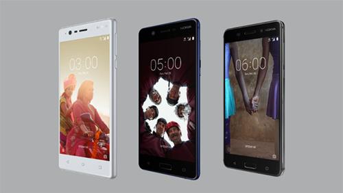 Nokia 6, Nokia 5 e Nokia 3 foram apresentados na MWC 2017 pela Nokia