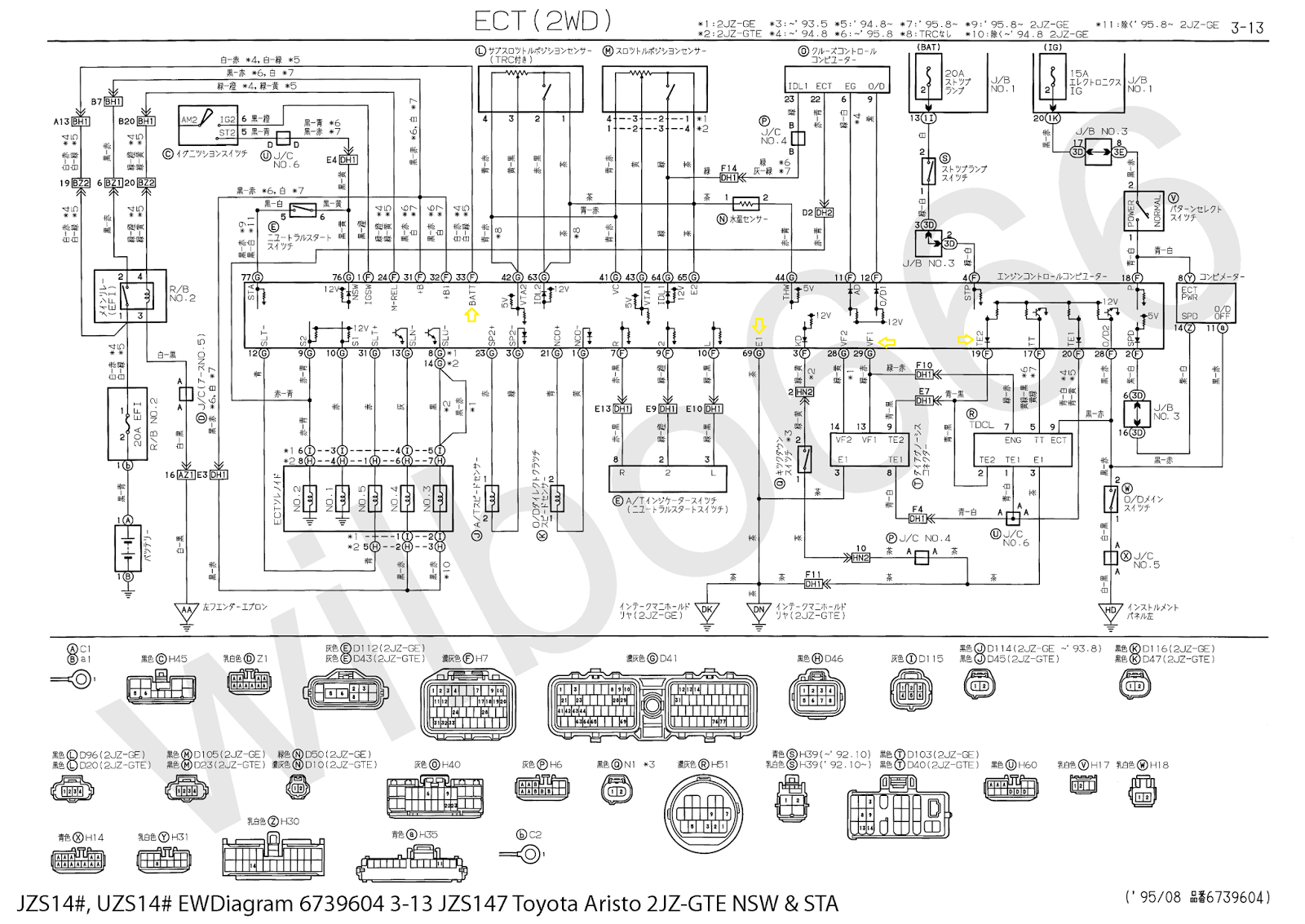 Early Non Vvti 2jz Gte Ecu Pinout From Aristo