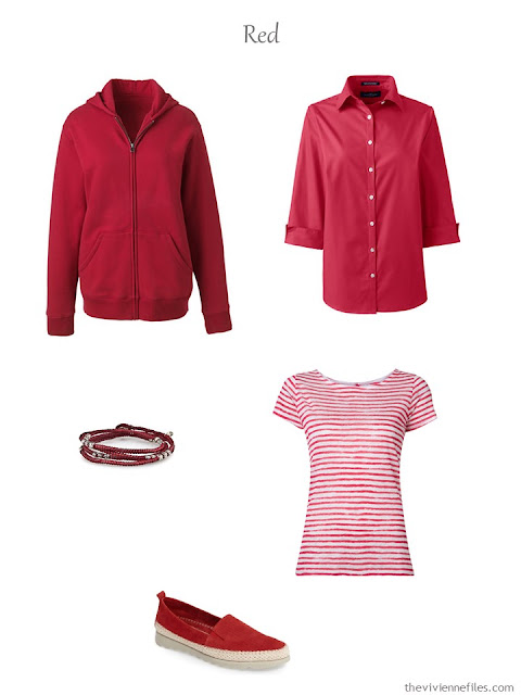 French Five Piece Wardrobe in red for spring and summer