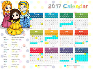 beautiful islamic calendar for kids