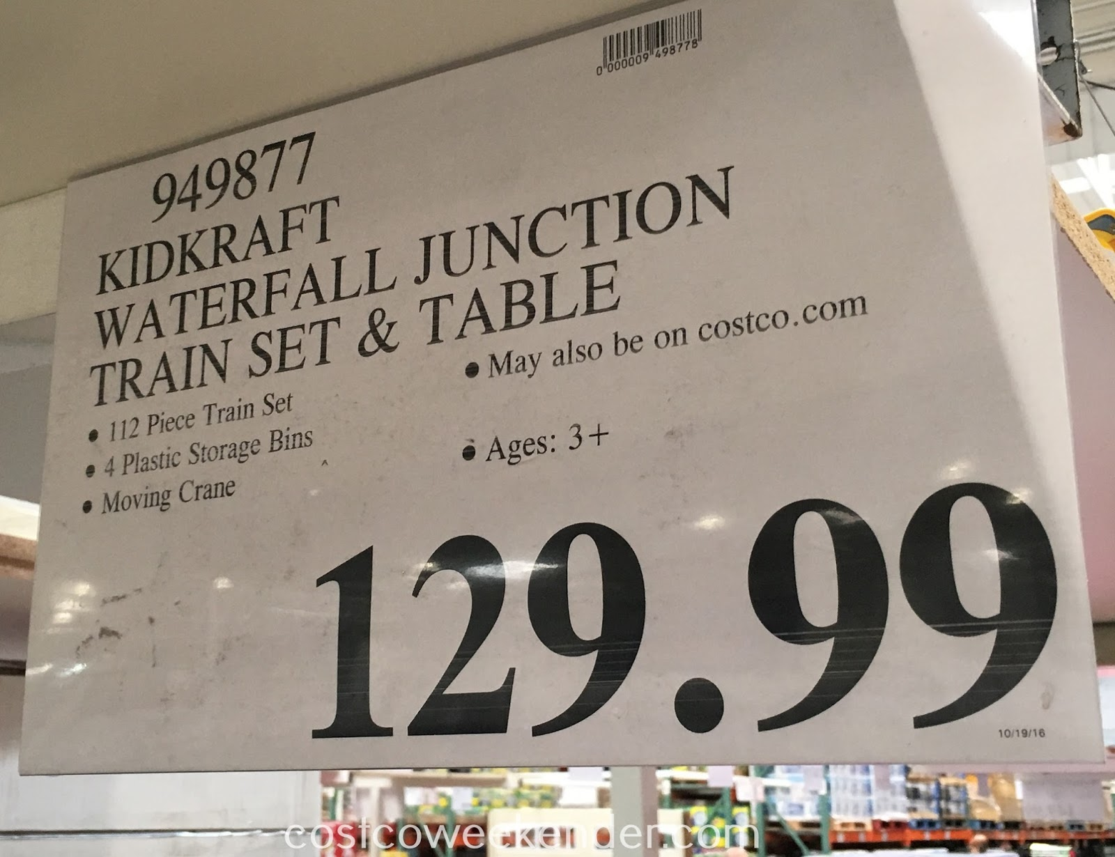Deal for the KidKraft Waterfall Junction Train Set and Table at Costco