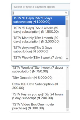 TSTV Subscription: 1 Day Plan for N200 Only + 20GB, Video Calls and 500GB Hard Drive (See Completes Plans)