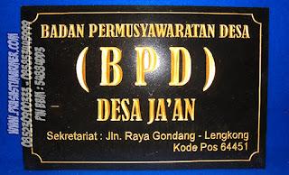 Instansi  Badan Permusyawaratan Desa ( BPD )