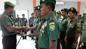 Dandim 0416/Bute Lepas 15 Prajurit Purna Tugas