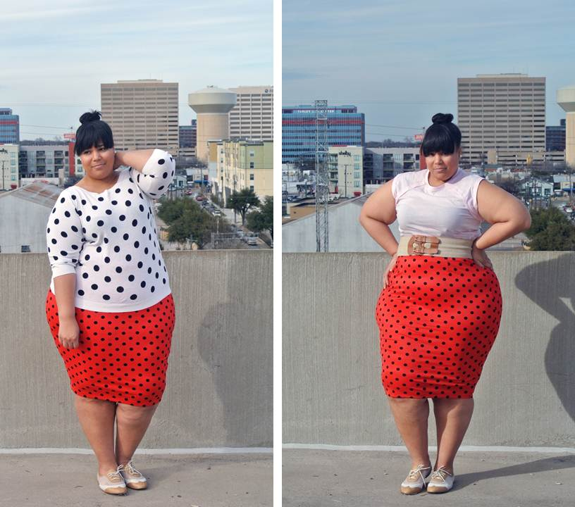 JIBRI, Plus Size high fashion, Polka dots