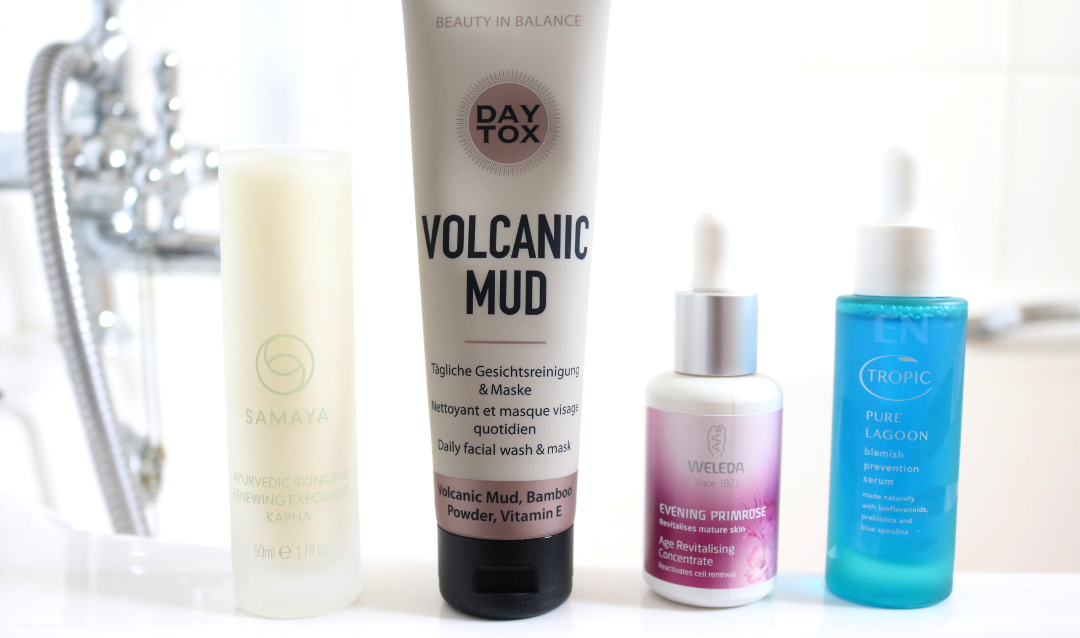 New In Skincare: Samaya Renewing Exfoliant, Daytox Volcanic Mud Mask, Weleda Evening Primrose Age Revitalising Concentrate & Tropic Pure Lagoon Blemish Prevention Serum review