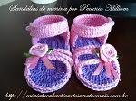 DIY - Sandálias de Crochê para Meninas Por Pecunia MillioM Com Passo a Passo Em Vídeo
