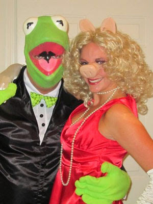 Kermit and Ms Piggy Halloween Costumes