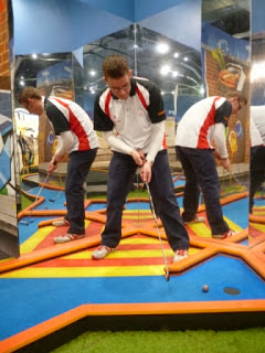 Indoor Crazy Golf at the Quest for Golf Krazy Golf at Westfield Shopping Centre in Dudley