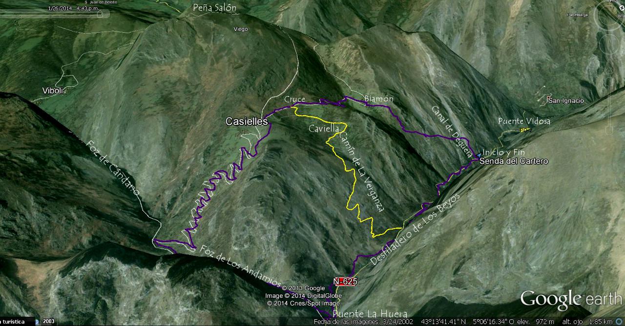 Senda del Cartero y Desfiladero de Los Beyos - Ponga - Asturias
