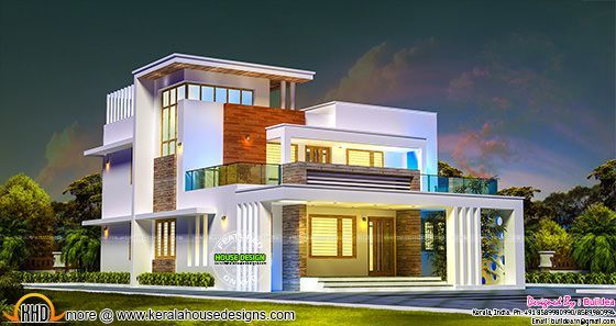 2686 sq-ft 4 bedroom contemporary style home