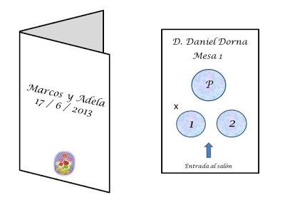 modelo de tarjeta individual boda