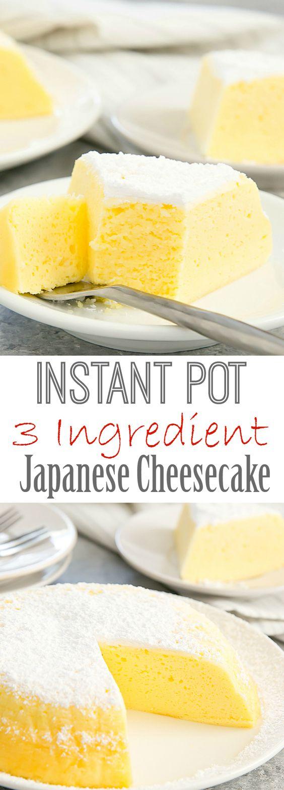 Instant Pot 3 Ingredient Japanase Cheesecake