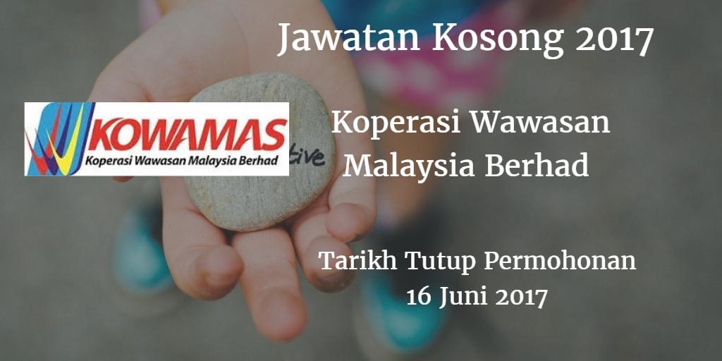 Jawatan Kosong KOWAMAS 16 Juni 2017