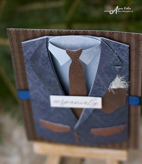kartka z koszulą i krawatem