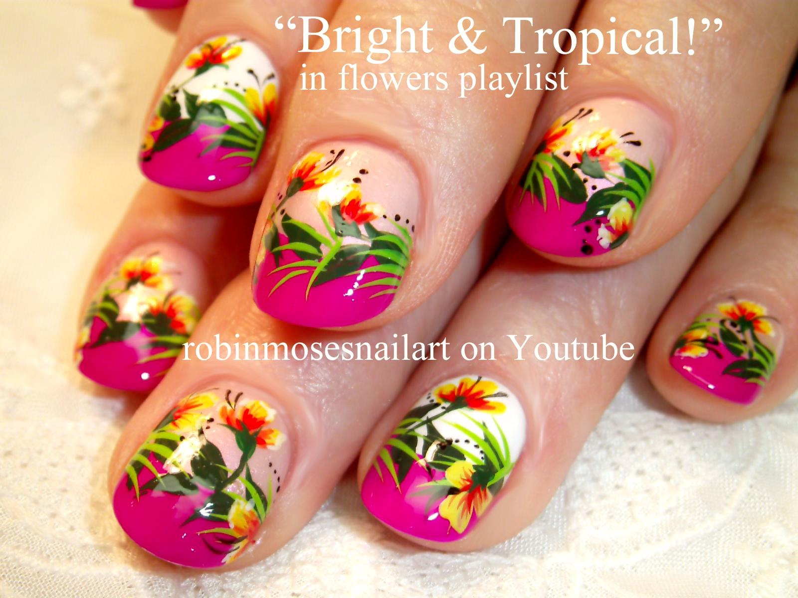 Nail Art By Robin Moses Abstract Tropical Nails