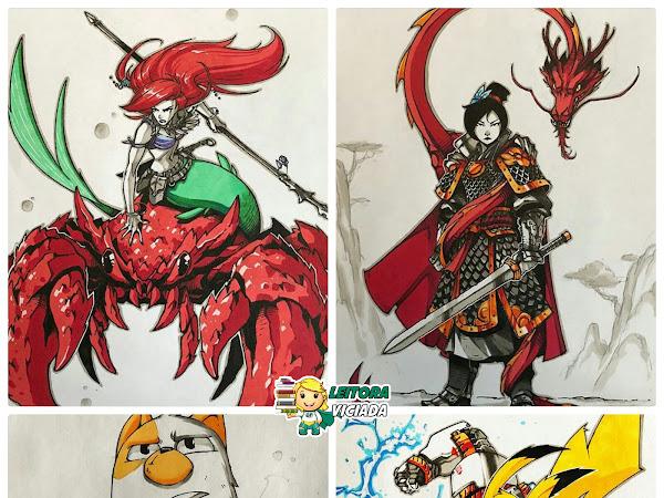 Ilustrações: Princesas Disney (e outras personagens) por Artemii Myasnikov
