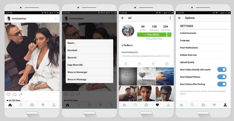 Screen Shot Instagram plus + OgInsta v 8.5.1