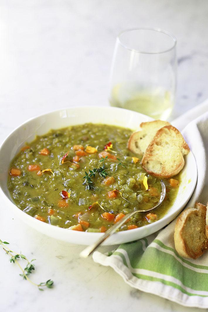 Vegetarian Slow Cooker Split Pea Soup Yummy Mummy Kitchen A